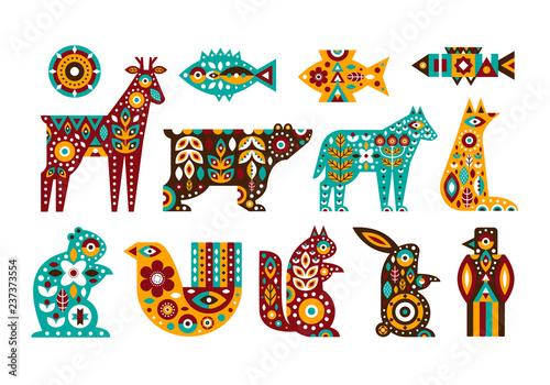 Tela Animal folk set in a Scandinavian style
