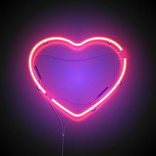 Heart Neon Sign Purple