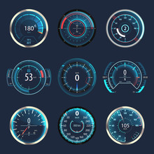 Car Or Automobile Speedometer Or Odometer