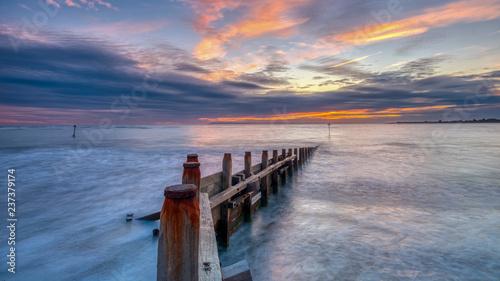 Printed kitchen splashbacks Coast Autumn sunset from West Wittering Beach, West Sussex, UK