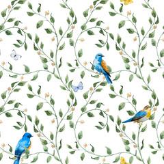 Panel Szklany Podświetlane Do pokoju dziecka Watercolor floral pattern