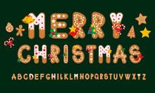 Ginger Cookies Alphabet, Merry...
