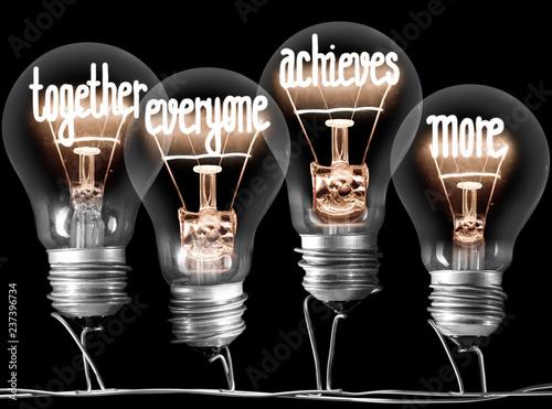 Fototapeta Light Bulbs Concept obraz na płótnie