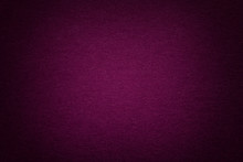 Texture Of Old Purple Paper Background, Closeup. Structure Of Dense Cardboard.
