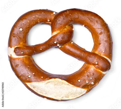 Delicious pretzel with salt, german food Fototapet