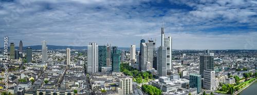 Staande foto Hoogte schaal luftbild frankfurt am main innenstadt