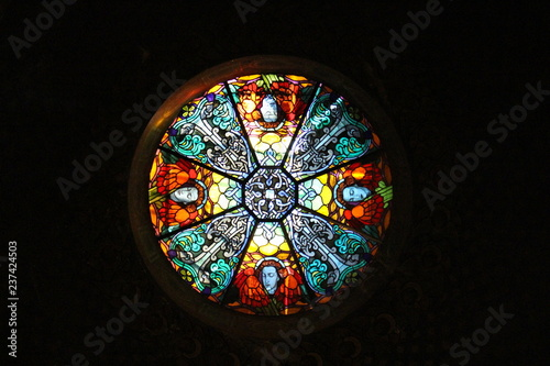 Photo stained glass window