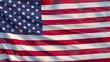 USA waving flag. United States of America flag, 3d illustration