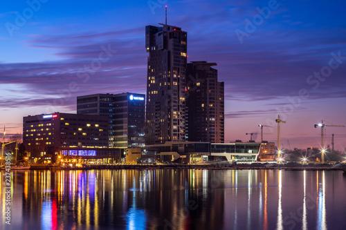 Obraz Gdynia nocą, Polska - fototapety do salonu