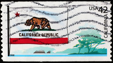Flag Of California On US Posta...
