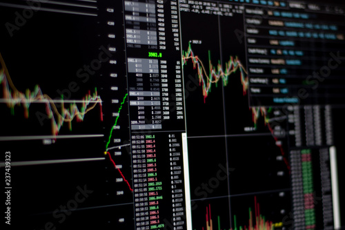 Fotografering  pantalla de grafica de Trading