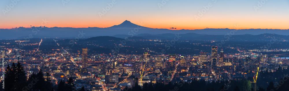 Fototapety, obrazy: Panorama of Portland Oregon city skyline