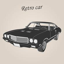 Vintage Car. Retro Car. Classic Car. Vector