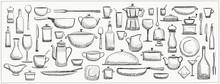 Graphic Doodle Set Of Kitchen ...