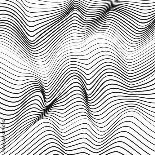 Fotografie, Obraz  Optical illusion, deformed surface