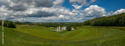 Wisconsin Farm Country Panorama