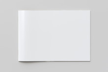 Blank Horizontal Booklet Cover