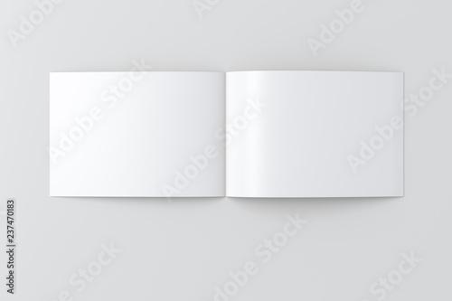 Fotografiet  Open blank horizontal booklet