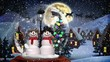 Cute Christmas animation of snowman couple in snow globe 4k