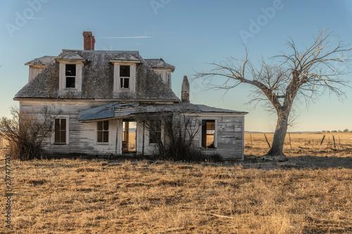 Obraz Old Prairie House - fototapety do salonu
