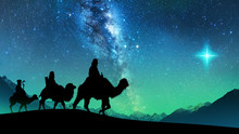 Silhouette Of Three Wise Men R...