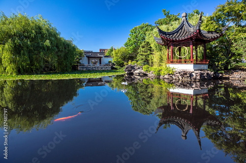 The Dr. Sun Yat-Sen Classical Chinese Garden is located in Vancouver's Chinatown district  Created in the style that is typical of the Ming Dynasty.  Trees, flowers and plants