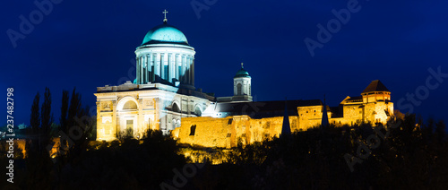 Deurstickers Europese Plekken Esztergom Basilica in Hungary