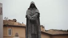 Statue Of Giordano Bruno In Campo Dei Fiori (Rome, Italy).