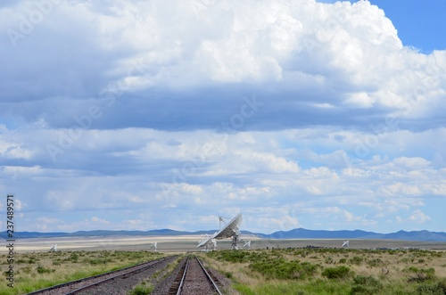 Photo  Very Large Array satellite dishes, New Mexico, USA