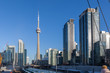 Toronto, Canada – December 4th 2018 tall apartment skyscrapers above Toronto under the blue skies