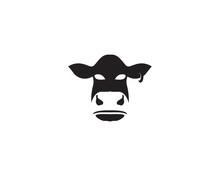 Cow Logo Template Vector Icon Illustration