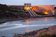 canvas print picture - Gariep dam on the Orange River in South Africa, the largest dam in South Africa