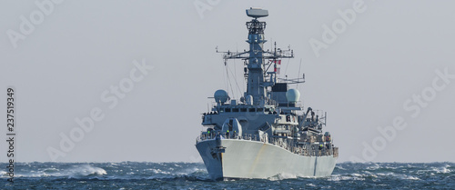 Photo WARSHIP - Frigate on a patrol in the sea