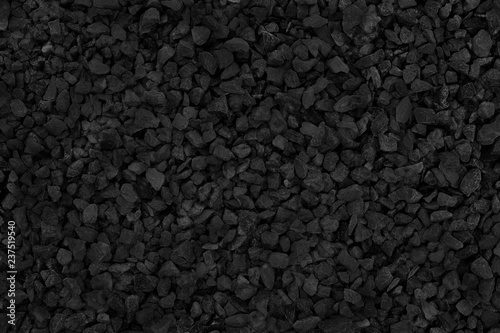 Obraz na plátně Natural stone pattern for background, black and grey stone gravel texture