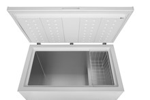 Open Freezer On A White Backgr...