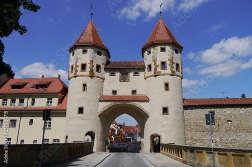 Mittelalterliches Nabburger Tor in Amberg Canvas Print