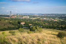 Pretoria, The Capitol Of South Africa, As Viewed From The Klapperkop Hill Overlooking The City.