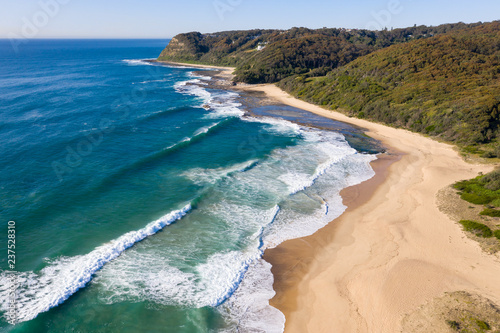 Foto op Plexiglas Oceanië Dudley Beach - Newcastle Australia aerial view. Located south of the CBD area Dudley beach is one of many beautiful beaches in the Newcastle area.