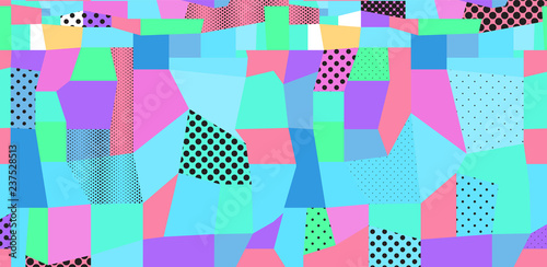 Fototapeta Abstract colored background from dots and geometric shapes