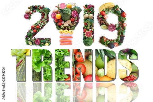Fotografía  2019 food and health trends