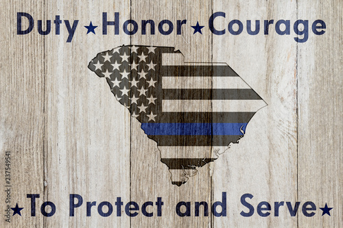 Fotografie, Obraz  South Carolina Duty Honor and Courage message