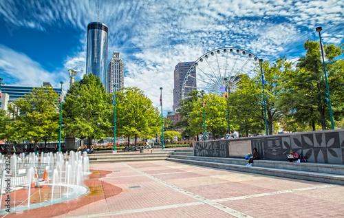 Impression of Atlanta from Olympic Centennial Park Canvas Print