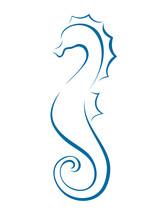 Seahorse Icon Outline Brushstr...