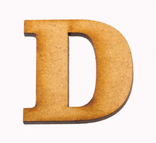 Alphabet In Wood - Letter D