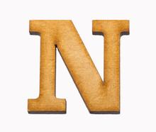 Alphabet In Wood - Letter N