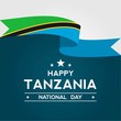 tanzania independence day vector design
