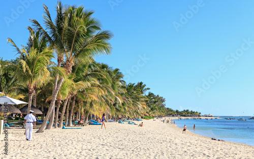 Fotografia  one on the most beautiful beach at mauritius