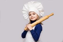 Children Cook. Happy Little Gi...