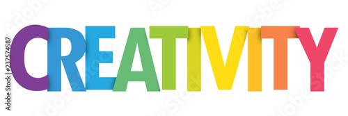 Obraz CREATIVITY colorful typography banner - fototapety do salonu