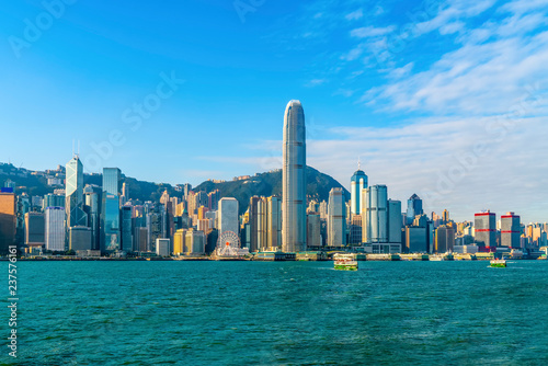 Poster de jardin Hong-Kong Hong Kong City Skyline and Architectural Landscape..